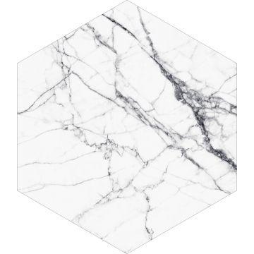 mural decorativo autoadhesivo marmol blanco y negro