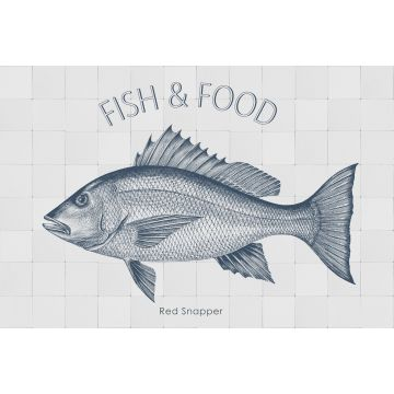 mural decorativo autoadhesivo pez azul
