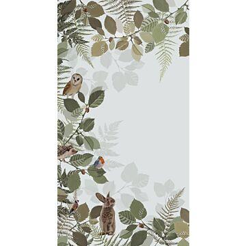 fotomural animales del bosque verde y marrón