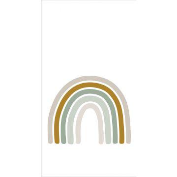 fotomural arcoíris verde grisáceo, amarillo ocre y beige