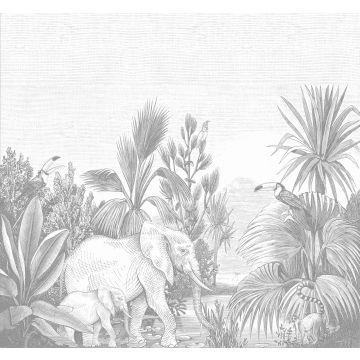 fotomural jungla gris