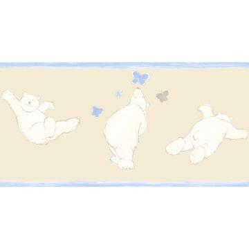 cenefa de papel pintado osos beige