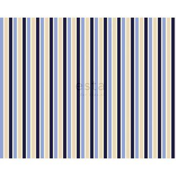 tela rayas azul y beige