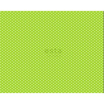 tela estrellas verde limón
