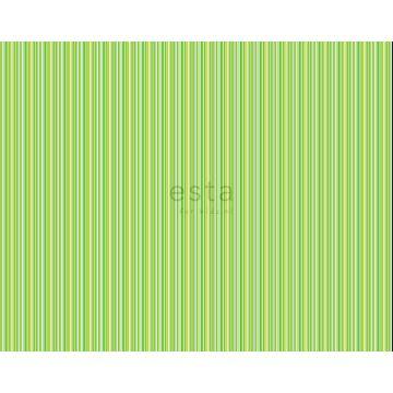 tela rayas verde limón