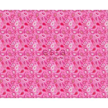 tela paisley cachemir rosa caramelo