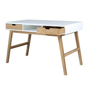escritorio Lynn blanco y natural