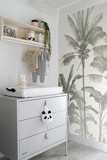 papel pintado jungla para niños
